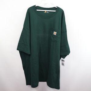 New Carhartt Mens 4XL Pocket T Shirt Green